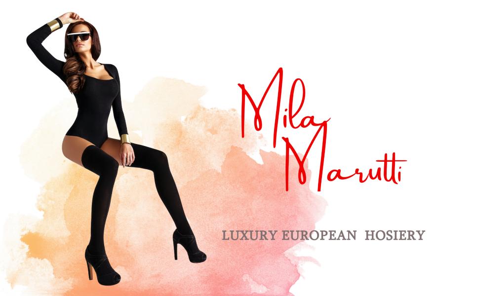 Mila Marutti Opaque Thigh High Stockings 100 Den