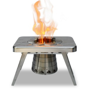 ncamp Stove wood burning, gas stove for backpacking, car camping, rving, camp kitchen accessory