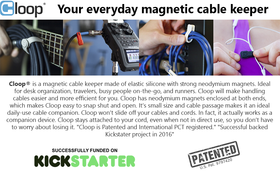 Cable Management - Cable Organizer - Cable Clips - Cloop