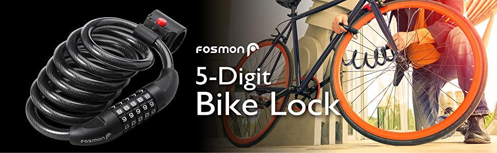 Fosmon 5 digit bike lock