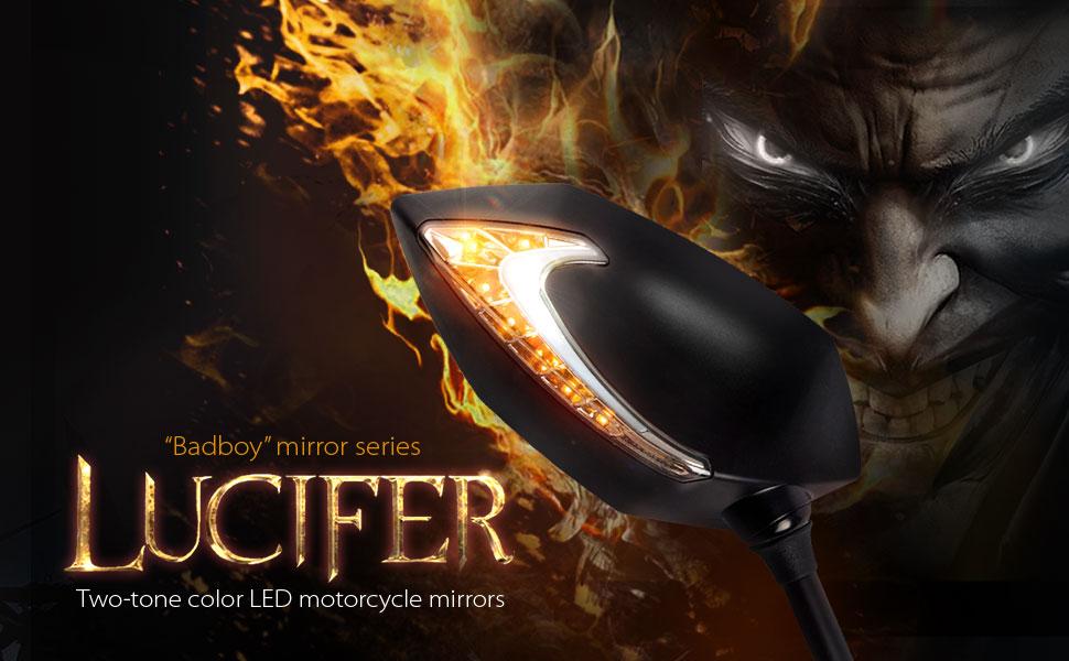 Lucifer - Badboy motorcycle mirror series