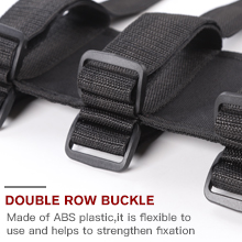 Adjustable Velco straps for a quick installation and easier access