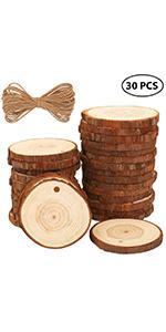 Fuyit 6-7cm 30pcs wood slices