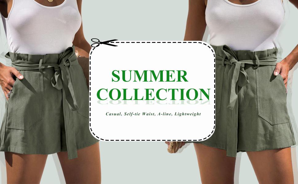 casual a line shorts summer women