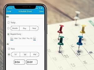 nexx smart plug nxpg-100 wifi outlet socket remote control schedule calendar planner set time next