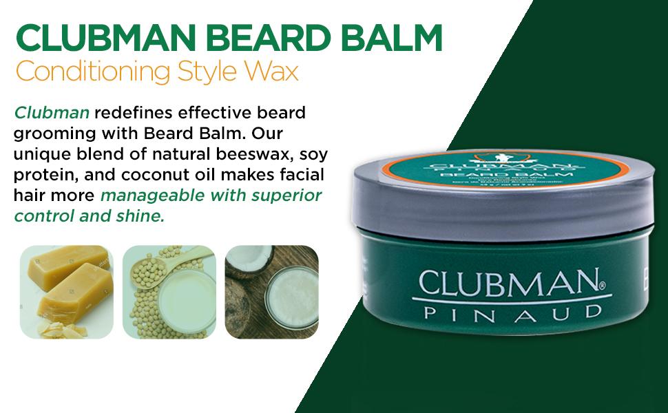 Clubman Beard Balm, 2 oz, 2 pack