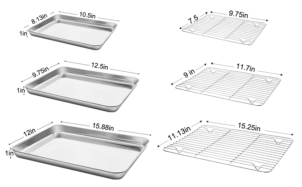 cookie sheets for baking nonstick set