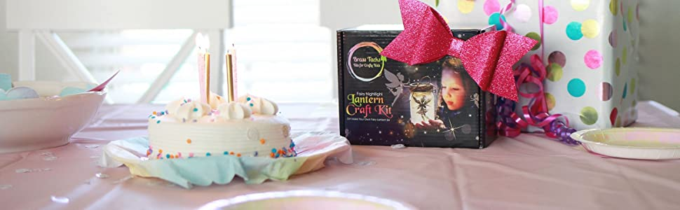 fairy lantern craft kit for kids gift age 5,6,7,8,9,10 glitter