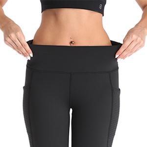 UURUN High Waist Yoga Pants Capri Workout Running Leggings with Pockets - Non-See-Through Fabric 15