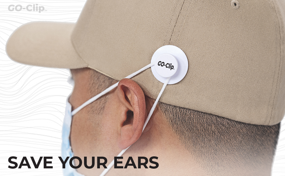 GO-Clip, face mask ear savers, mask holder, strap extenders, outdoor, safety, comfortable, secure