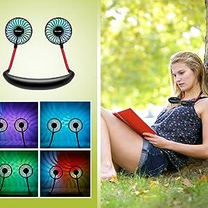 color neck fan