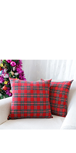 Amazon.com: 4TH Emotion Merry Christmas Berry Wreath Throw ...