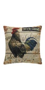 Trendin Farm Rooster Pillow Cover