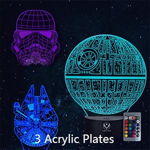 3 Acrylic Plates