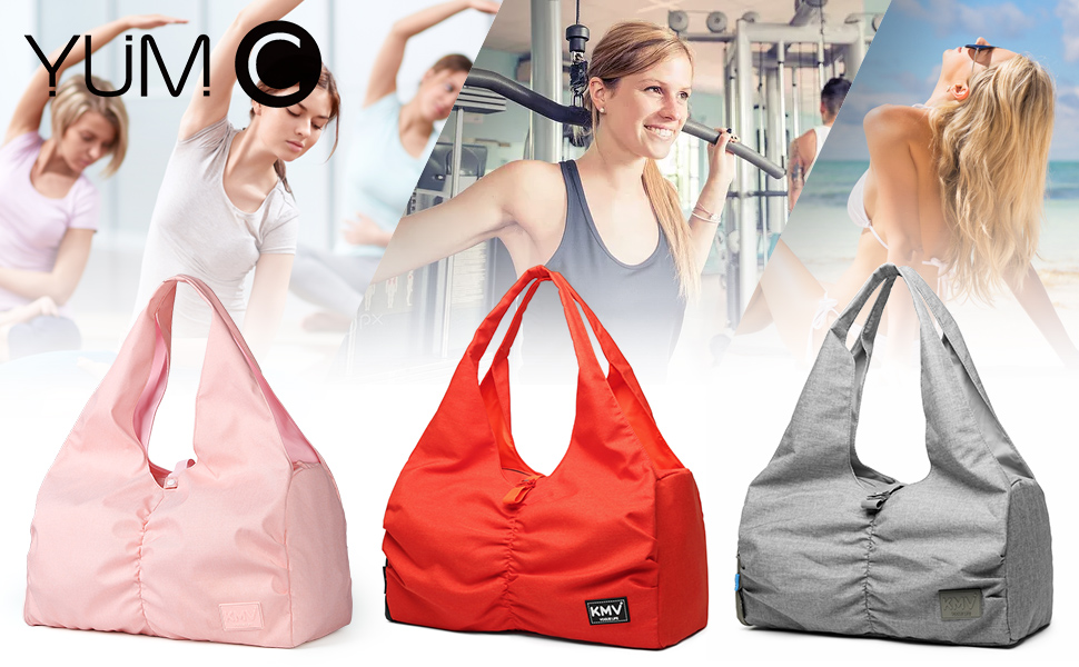 Details about  /Women Fitness Yoga Mat Gym Bags Side Pocket Carry Case Shoulder Training Pouch