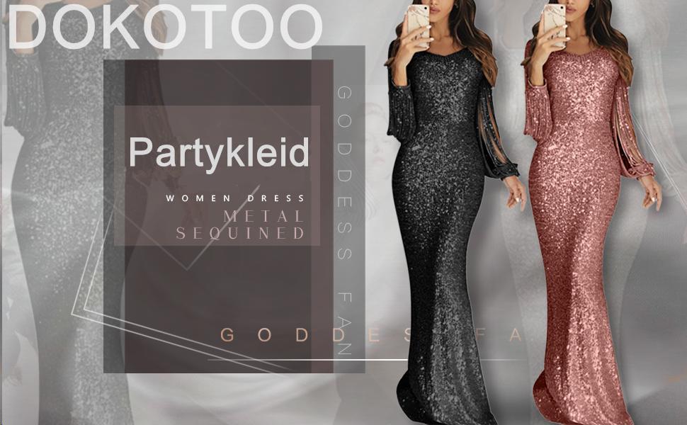 Kleid Damen asymmetrisch und Off Shoulder Marke find