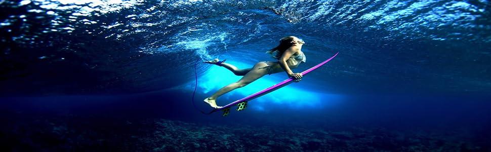 beach girl surfer hawaii summer underwater dive woman water action people bikini family reef black