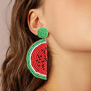 Amazon.com: Udalyn Beaded Earrings For Women Girl Fashion ...