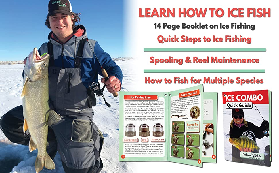 ice fishing pole spool reel maintenance book booklet how to ice fish tailored tackle