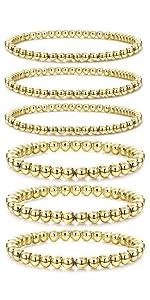women gold bead bracelet