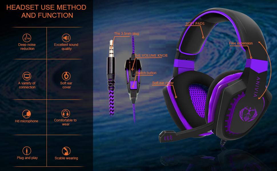 purple headset