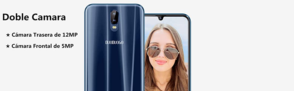 DUODUOGO Móviles Libres 4G 4GB RAM 64GB ROM Face ID Android 8.1 ...