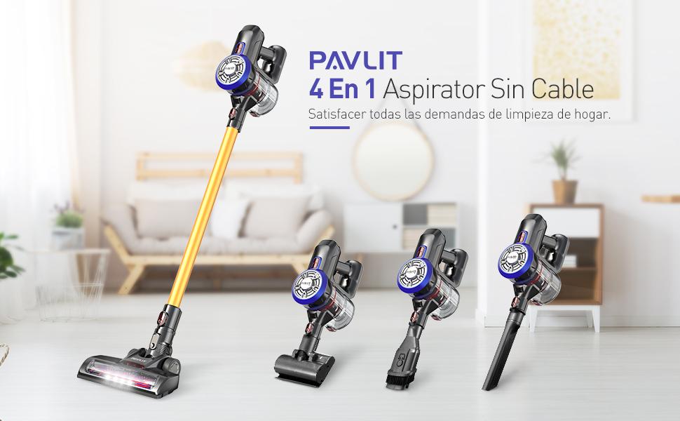 PAVLIT Aspirador sin Cable, Aspirador Escoba 4 en 1, Potente ...