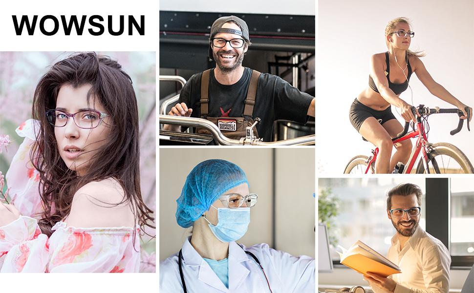 Safety Goggles Glasses for Women Men Anti Fog Blue Light Blocking Anti Pollen Protective Eyewear