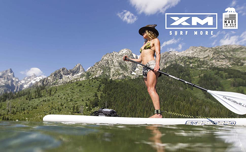 XM SURF MORE STAND-UP PADDLE SUP LEASH MADE IN USA CALIFORNIA XM POWER CORD
