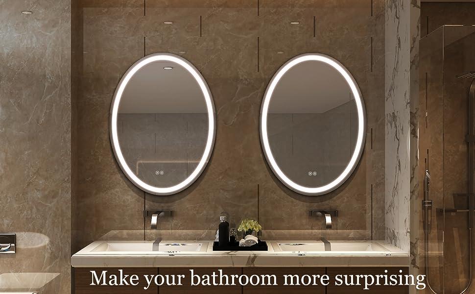 wall led mirror