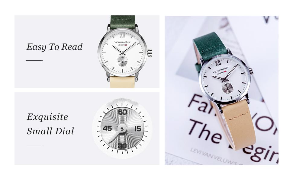 women watches for ladies genuine leather strap waterproof wristwatch victoria hyde watches