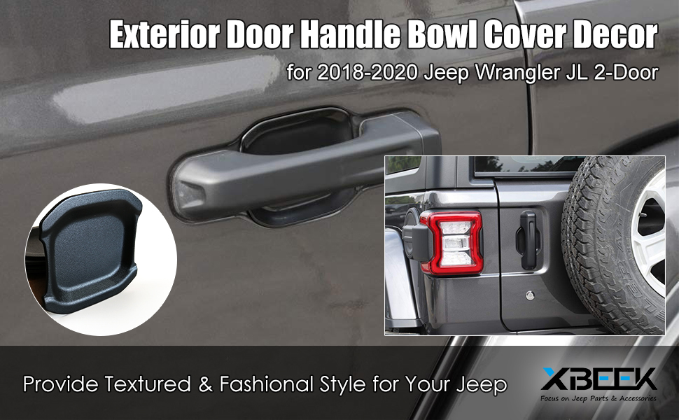 2018 2019 2020 Jeep Wrangler JLExterior Door Handle Bowl Cover Trim