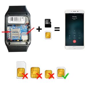 Smartwatch unterstützt SIM-Karte