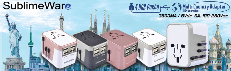 Power converter - international ower adapter - bali indonesia travel plug - universal travel charger