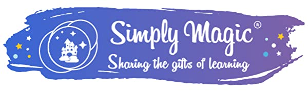 Simply Magic logo, educational posters, learning posters, classroom decorations, homeschool supplies