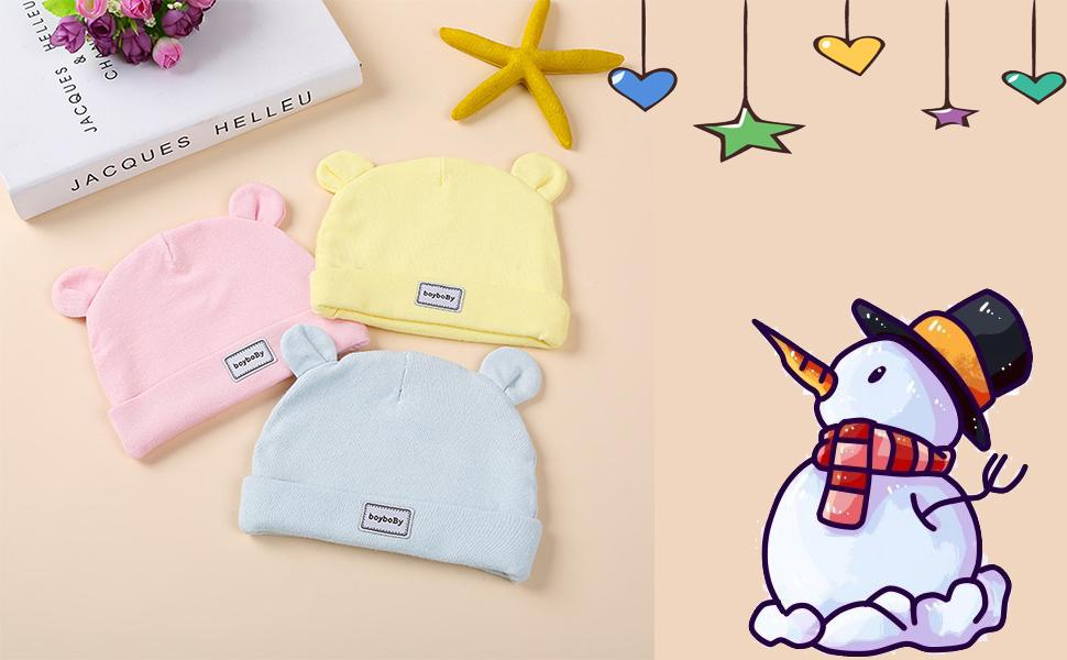 sombrero de invierno para bebes recien nacido caliente