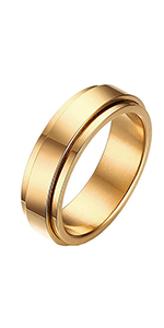 high polished spinner rings gold