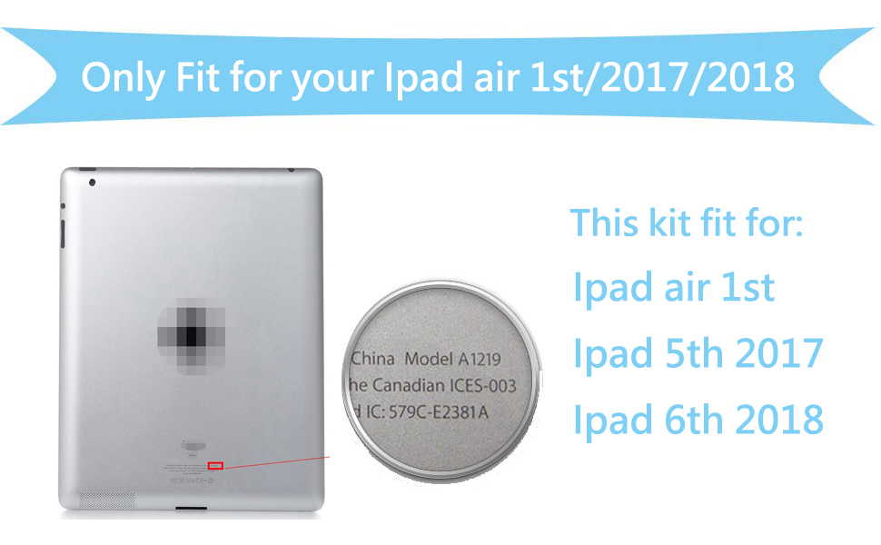 FIXCRACKED REPLACEMENT LCD SCREEN+SCREEN PROTECTOR FOR IPAD AIR 1ST AND IPAD 5 2017 IPAD 6 2018 WITH PROFESSIONAL TOOL KIT