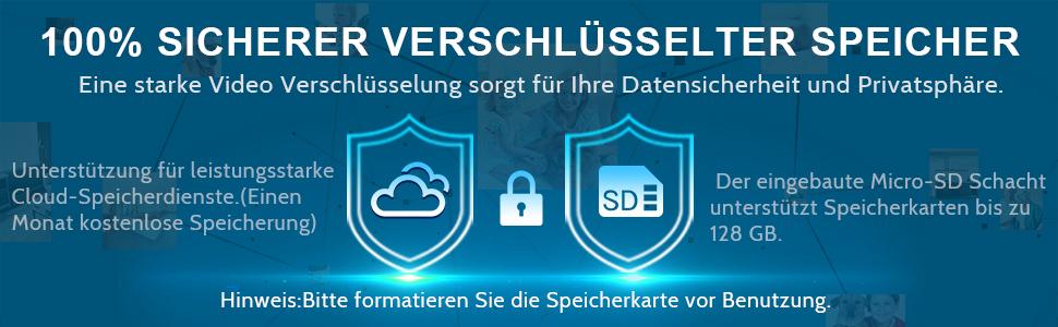 90 Tage kostenloser Cloud- und SD-Kartenspeicher