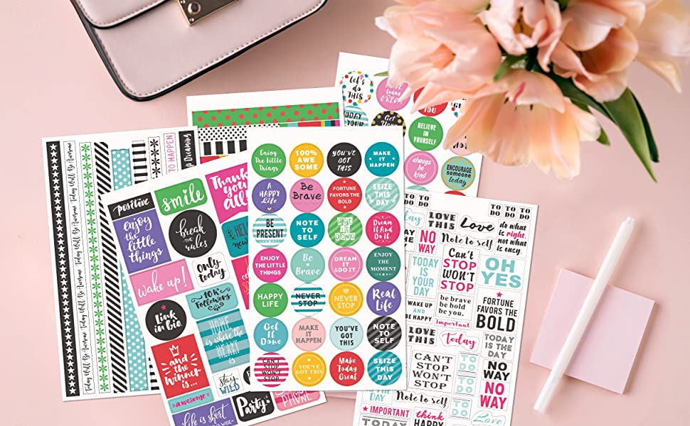 Half Boxes Planner Stickers Multi Color F0008 Functional Calendar Stickers Matte Sticker Paper