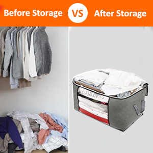 before and after storage