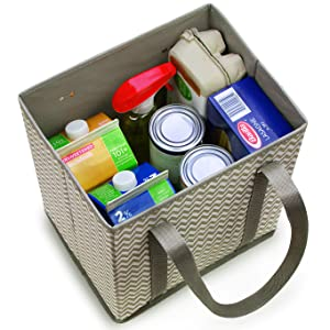 Creative Green Life Shopping Box Bags with Groceries