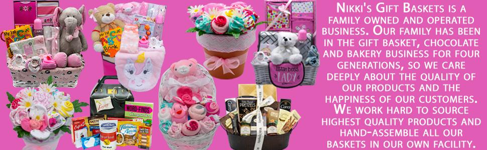 Nikki's Gift Baskets new baby girl gift