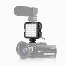 Andoer 42led Led Videoleuchten Lichtperlen Mit Kamera
