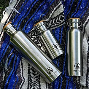 different sized stainless steel water bottles
