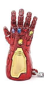 Color : B93 JINSUO GWTRY Los Vengadores Thanos guantelete del Infinito Llavero Guerra Thanos Poder Infinito Guante Llavero Hombres Chaveiro Coche