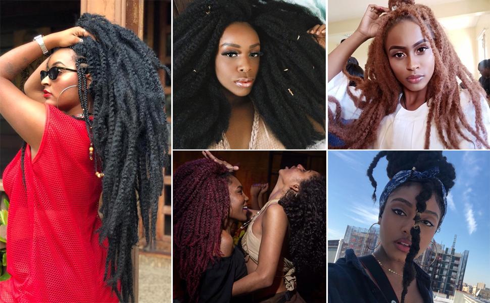 afro kinky hair