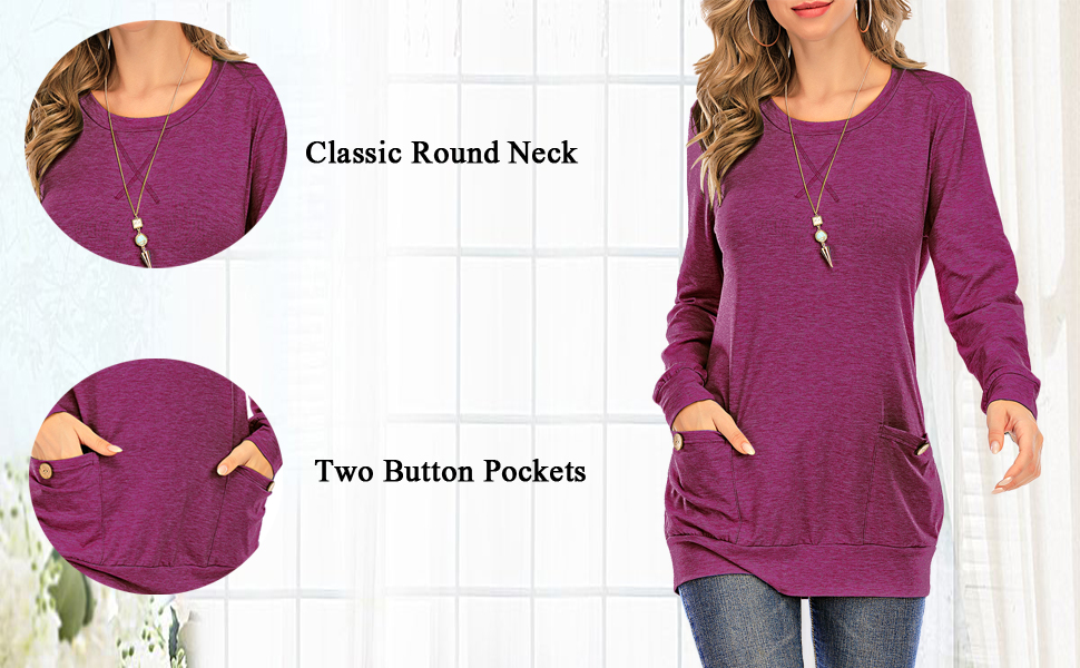 womens casual long sleeve tunic fall long sleeve women tunic casual top warm long sleeve shirt women