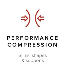 Performance compression slims, shapes, & supports
