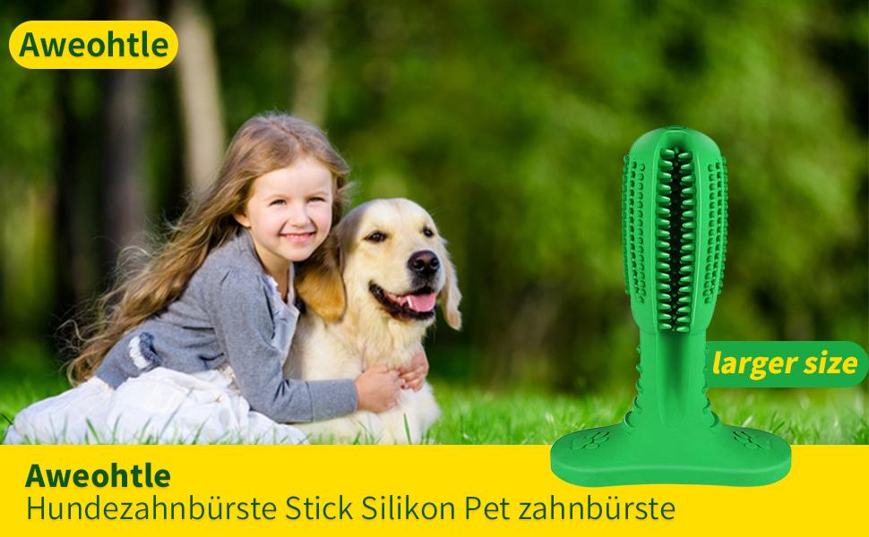 Hundezahnbürste Stick Silikon Pet zahnbürste , Aweohtle